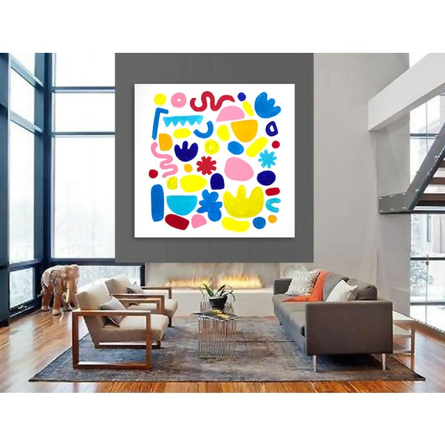 Canvas 'Jubilation' Original Abstract Painting by Linnea Heide For Sale - Image 7 of 8
