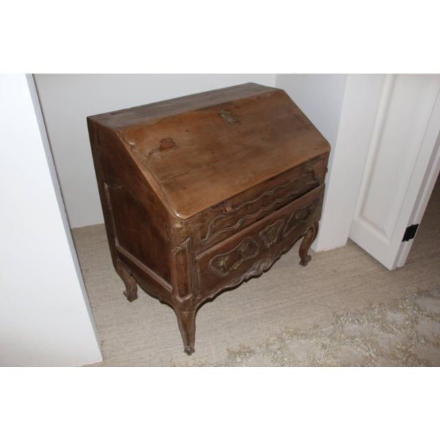 18th Century French Provincial Slant Front Desk With Hidden Compartment For Sale - Image 10 of 10