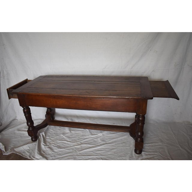 French Country Walnut Kitchen Work Table Chairish
