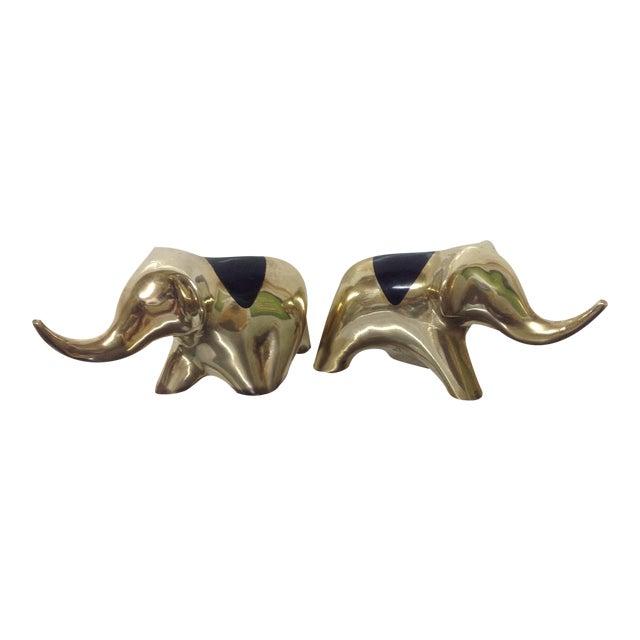 Mid-Century Brass Elephants - A Pair - Image 1 of 5