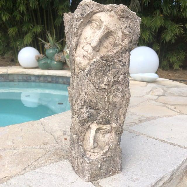 Vintage Modern Contemporary Sculptural Two Face Vase For Sale - Image 12 of 12