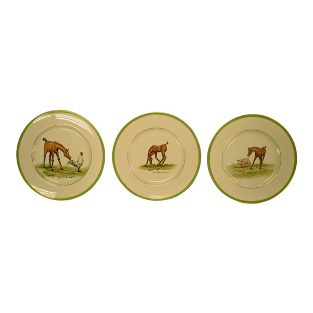 1950's Vintage Cyril Gorainoff Abercrombie & Fitch Plates - Set of 3 For Sale