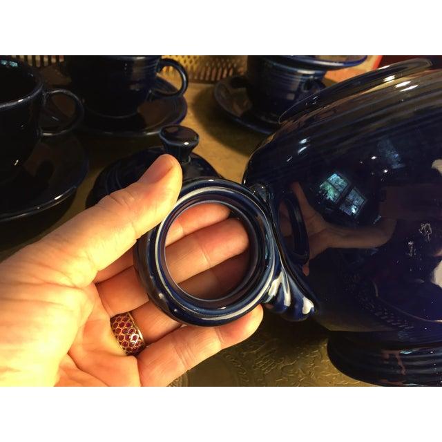Blue 1992 Fiesta Navy Tea Set - 14 Pieces For Sale - Image 8 of 11