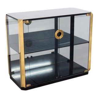 Mid-Century Modern Willy Rizzo Display Cabinet For Sale