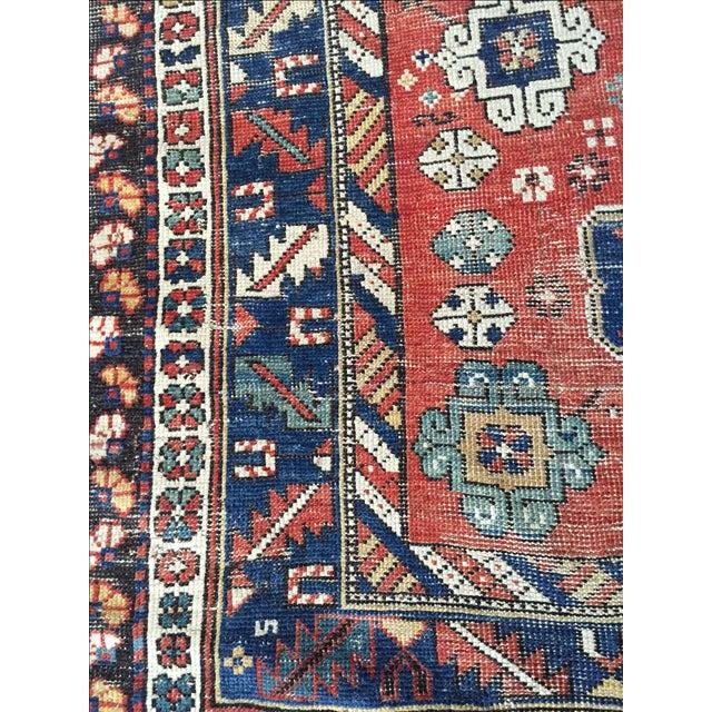 Antique Vintage Caucasian Rug - Image 7 of 7