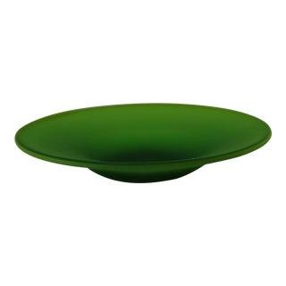 Vintage Italian Green Murano Glass Dish For Sale