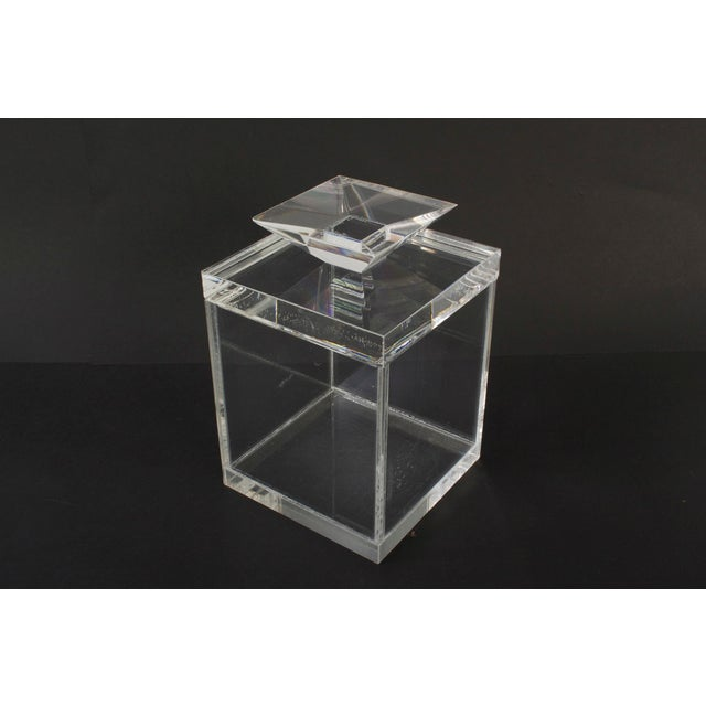 Clear Lucite Boxes - Pair - Image 3 of 3
