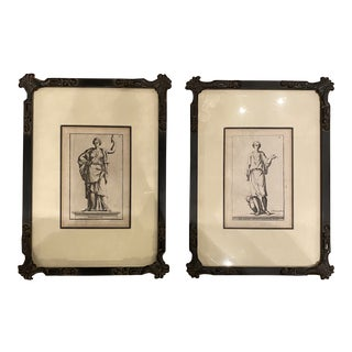 Antique Neoclassic Engravings - a Pair For Sale