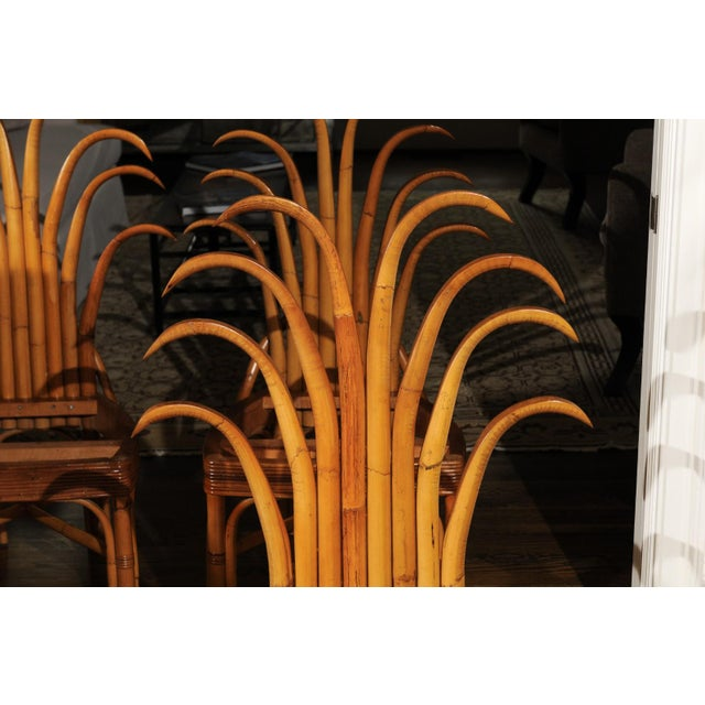 Mid-Century Modern Jaw-Dropping Unique Pair of Custom-Made Palm Frond Chairs, circa 1950 For Sale - Image 3 of 13