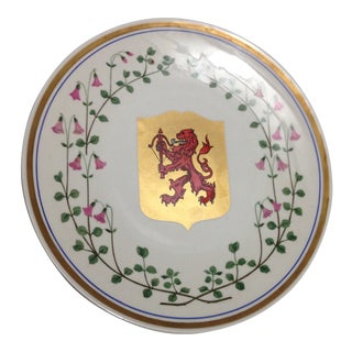 Upsala Ekeby Red Lion Swedish Mid Century Wall Plate For Sale
