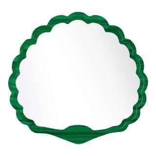 Fleur Home x Chairish Carnival Proteus Mirror in Malachite, 36x33 For Sale