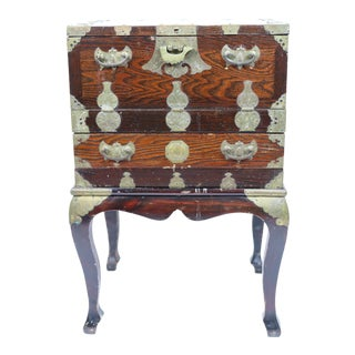 Antique Chinese Chest on Stand For Sale