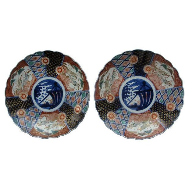 Antique Japanese Imari Chargers - Pair - Image 1 of 3
