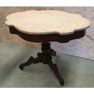 20th Century Spanish Mariano Garcia Pedestal Table With Marble Top Preview