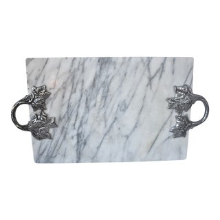 Vintage Marble Serving Tray For Sale