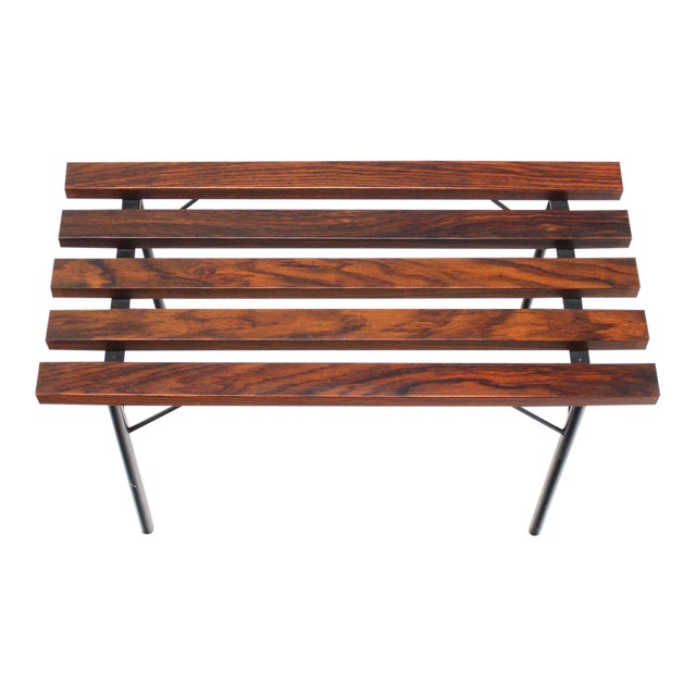 Awe Inspiring Small Slat Rosewood Bench Andrewgaddart Wooden Chair Designs For Living Room Andrewgaddartcom