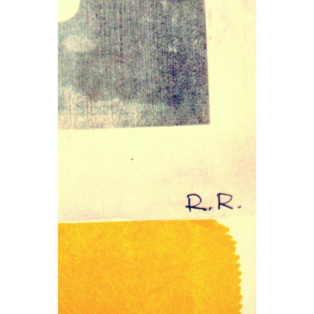 Robert Rauschenberg poster for an exhibition of his work at the Moderna Museet in Stockholm Sweden in 1981. It is in fine...