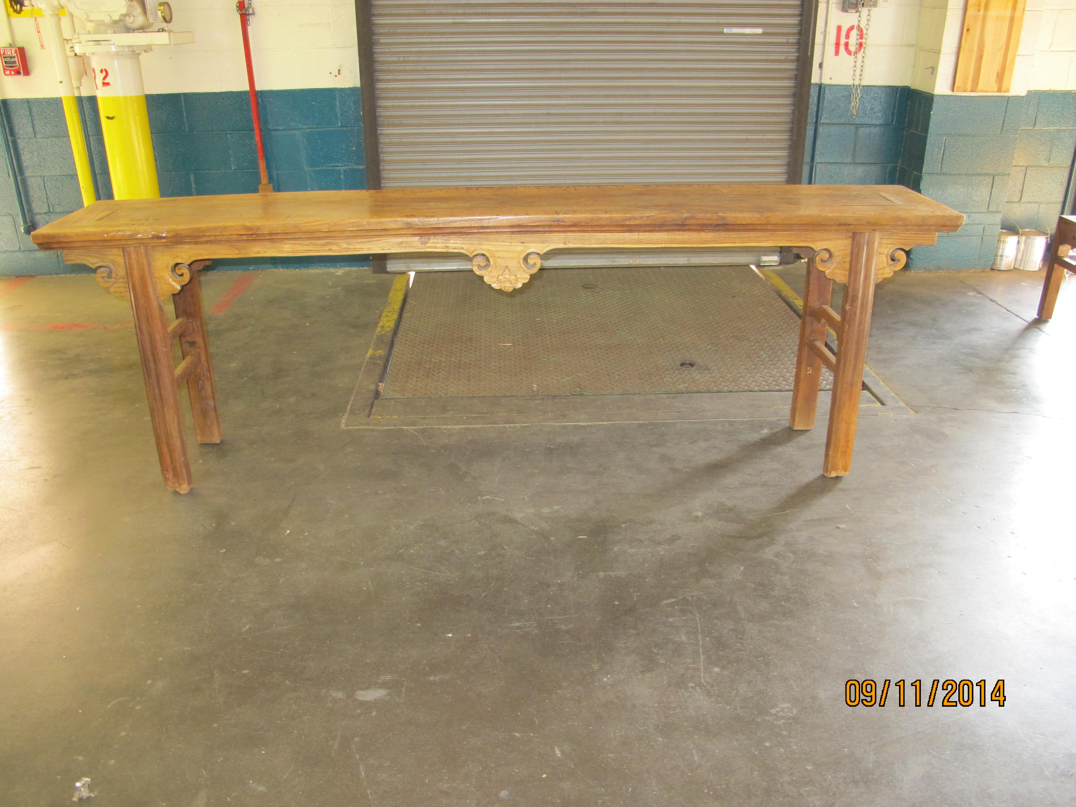 1900s Chinese Elmwood Console Table For Sale In Greensboro   Image 6 Of 6