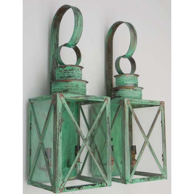 Copper Lanterns - A Pair - Image 4 of 11