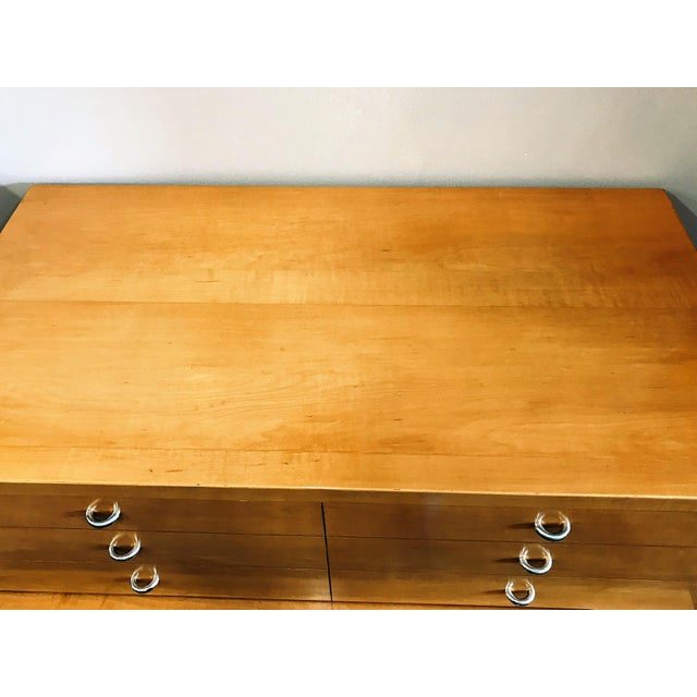 Mid-Century Modern Huntley Blonde Wood Highboy Dresser For Sale - Image 6 of 11