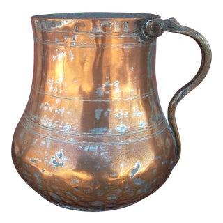 Vintage Copper Plated Jug For Sale