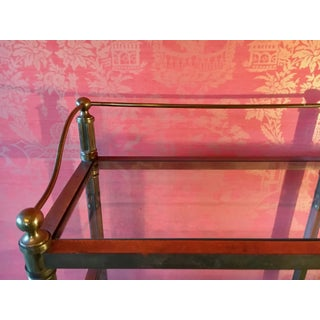 Solid Brass Three Shelf Console Display in the Manner of Neoclassical Style Preview