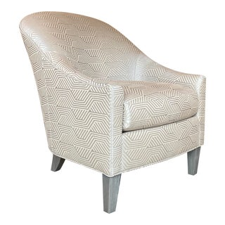 Transitional Lounge Chair For Sale