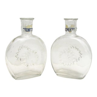 French Ricard Bistro Pastis Carafes, Pair For Sale