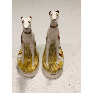Staffordshire Kent Whippet Dog Figurines - a Pair Preview