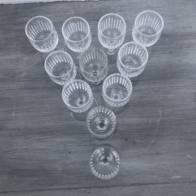 American Hand Cut Vintage Holiday Cordial Glasses a Set of 11 For Sale - Image 3 of 7