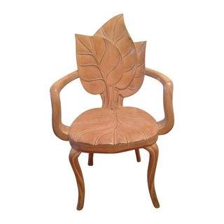 Sculptural Leaf Motif Armchair For Sale