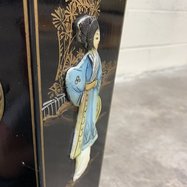 Hand Painted Chinese Soapstone Umbrella Stand For Sale - Image 10 of 13