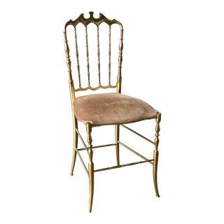Vintage Italian Brass Chiavari Chair For Sale