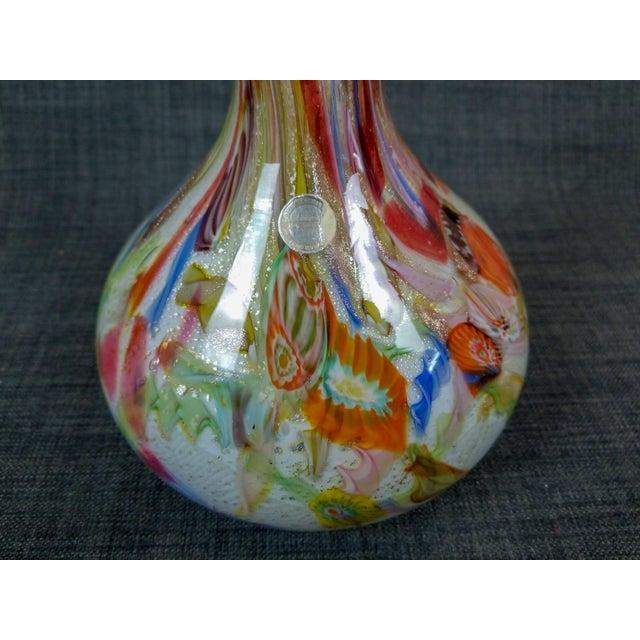 "Italian Large 1950's Avem Dino Martens Zanfirico ""Tutti Fruiti"" Cased Glass Vase For Sale - Image 3 of 5"