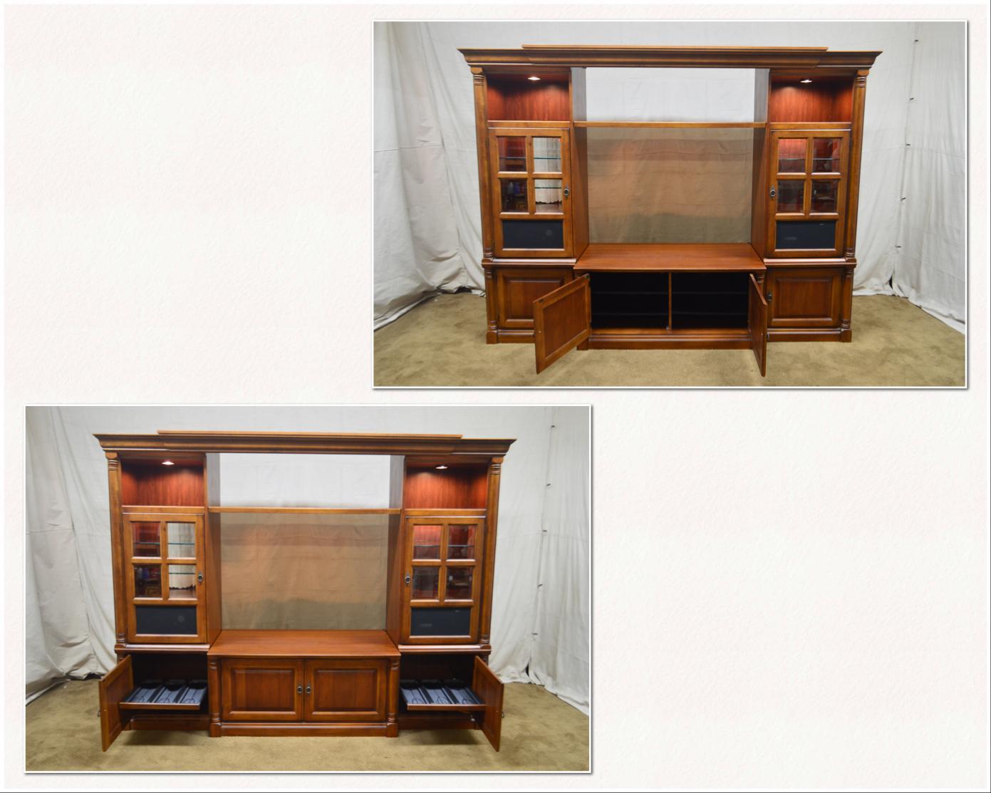*STORE ITEM #: 18224 Ax Hooker Furniture Large Cherry Entertainment TV Unit  W
