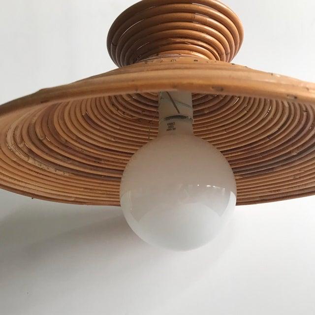 Mid Century Rattan Pendant Light - Image 4 of 8