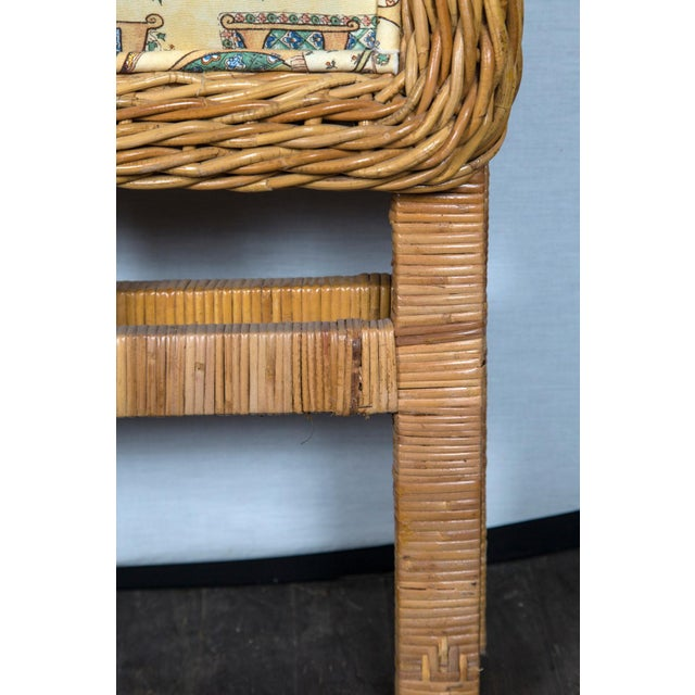 Renaissance Pair of Arched Wicker/Rattan Twin Size Headboards For Sale - Image 3 of 13
