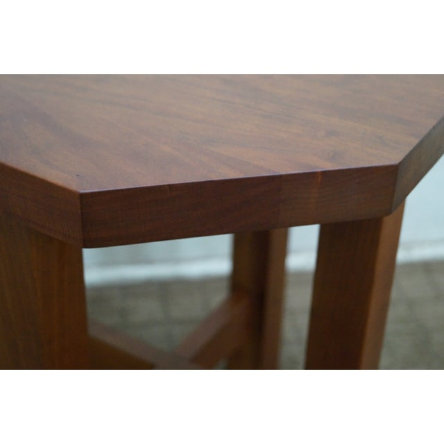 1990s Stickley Mission Style Cherry Octagon Small Side Table Taboret Stand For Sale - Image 5 of 10