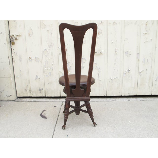 Civil War Piano Chair - Image 3 of 7