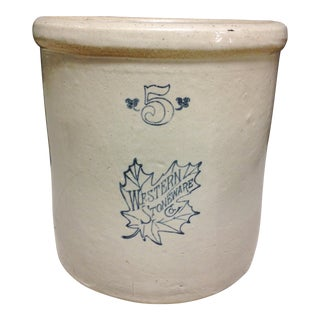 Western Stoneware Co. 5 Gallon Crock For Sale