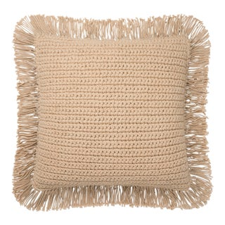 """Justina Blakeney X Loloi Beige 22"""" X 22"""" Cover with Down Pillow For Sale"""