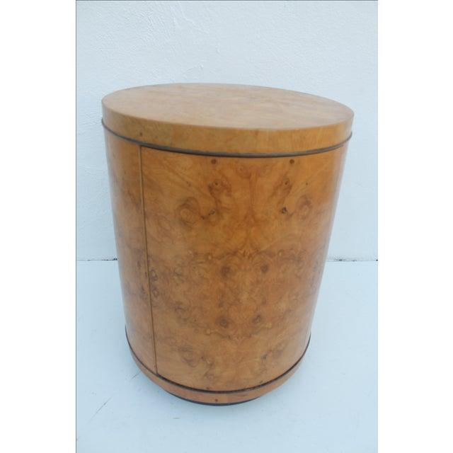 1970s Milo Baughman Burl Wood Side Table - Image 3 of 8