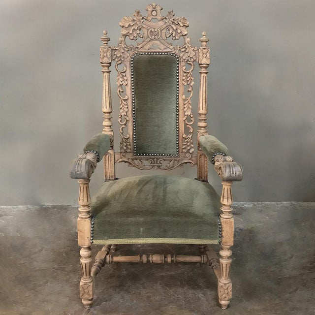 Pair 19th Century Black Forest Stripped Oak Armchairs For Sale In Dallas - Image 6 of 11