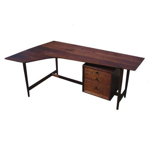 Mid-Century Modern Richard Artschwager Studio Walnut Desk For Sale - Image 3 of 7