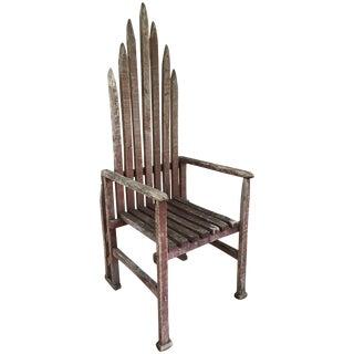 Primitive American Armchair For Sale