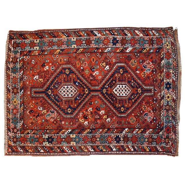 1920s Handmade Persian Gashkai Rug - 3.8' X 5.2' - Image 10 of 10