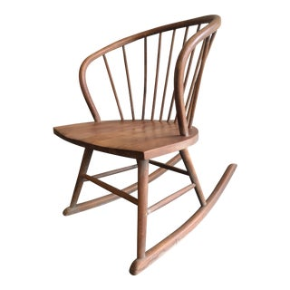 Mid-Century Modern Wood Rocker For Sale