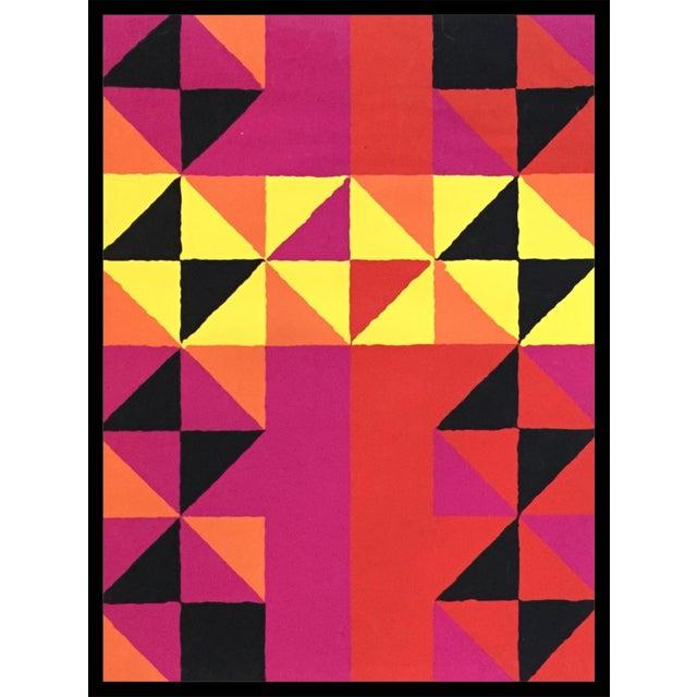 "1960s Op-Art Sidney Budnick Silkscreen ""Forest Fire"" For Sale - Image 10 of 10"