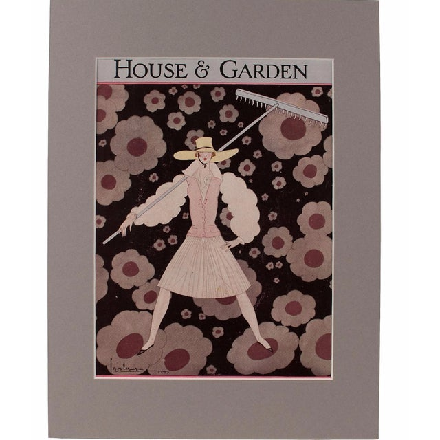 1927 House & Garden Print by Georges Lepage - Image 1 of 2