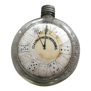 Antique Glass Clock Flask For Sale
